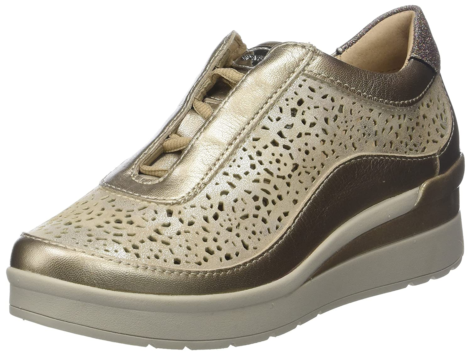 Stonefly Cream 2 bis Goat Lam, Zapatos con Plataforma para Mujer