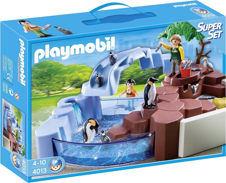 PLAYMOBIL Supersets Zoo: Set Piscina pingüinos, Playsets de Figuras de Juguete, Multicolor, 35 x 7,5 x 25 cm, (4013)