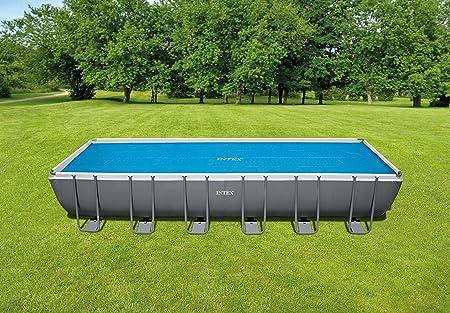 Intex 29027 - Cobertor solar para piscinas rectangulares 732 x 366 ...