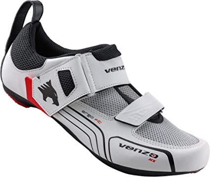 Venzo Bicycle Triathlon Shoes For Shimano SPD SL Look White