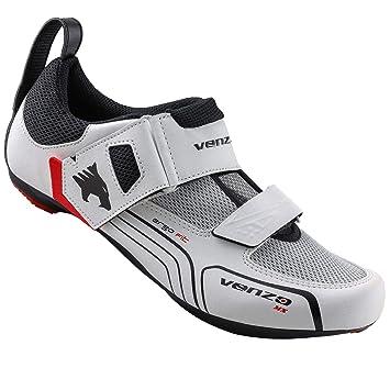 Venzo - Zapatillas de Ciclismo para Hombre (triatlón, compatibles ...