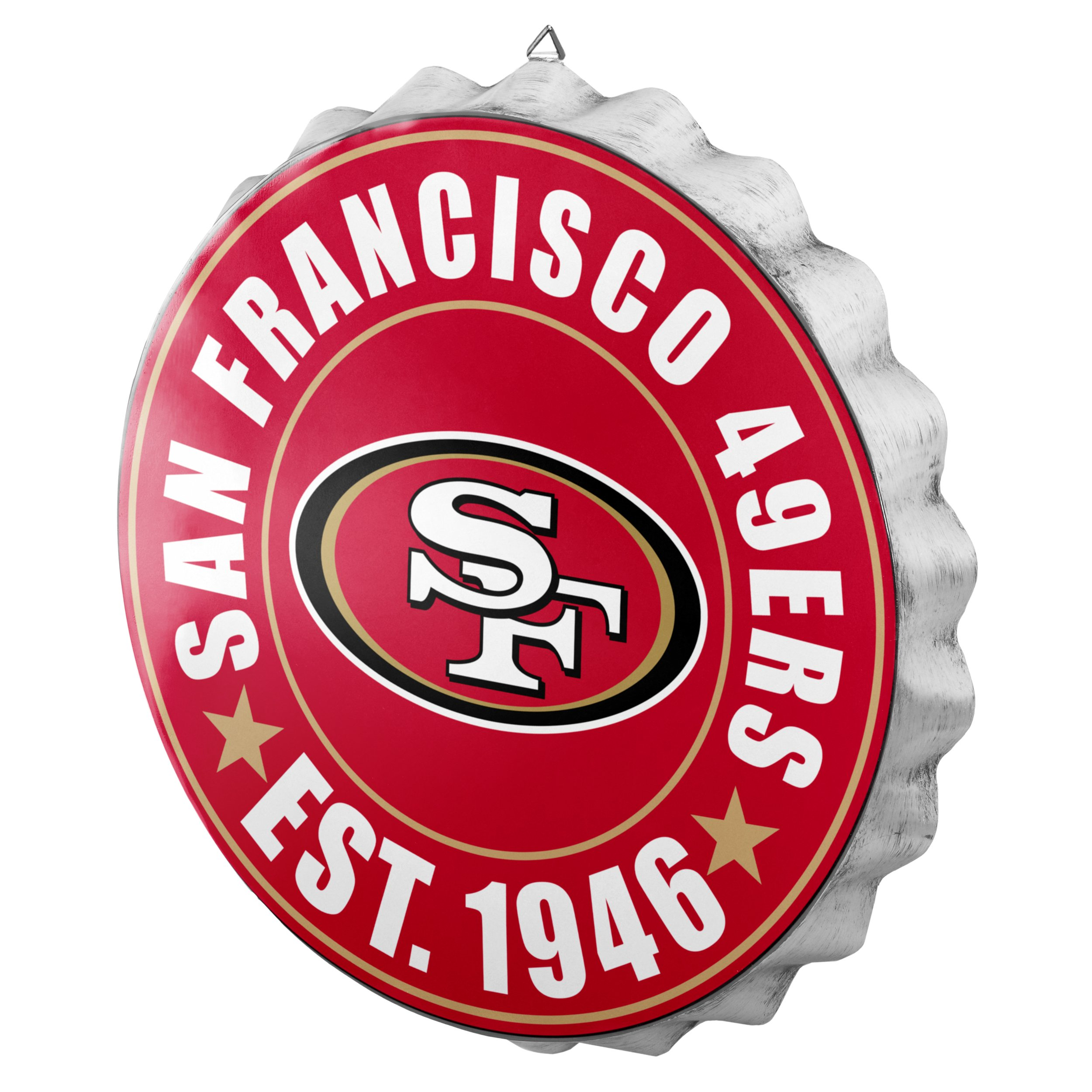 San Francisco 49ers NFL Bottle Cap Wall Sign