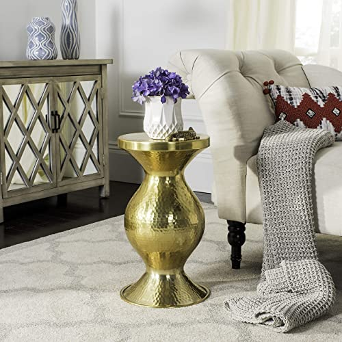 Safavieh Home Collection Janus Gold Hammered End Table