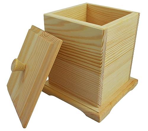 Wooden World Caja de Madera - joyero de Almacenamiento Universal de Madera Decoupage Craft decoración: Amazon.es: Joyería