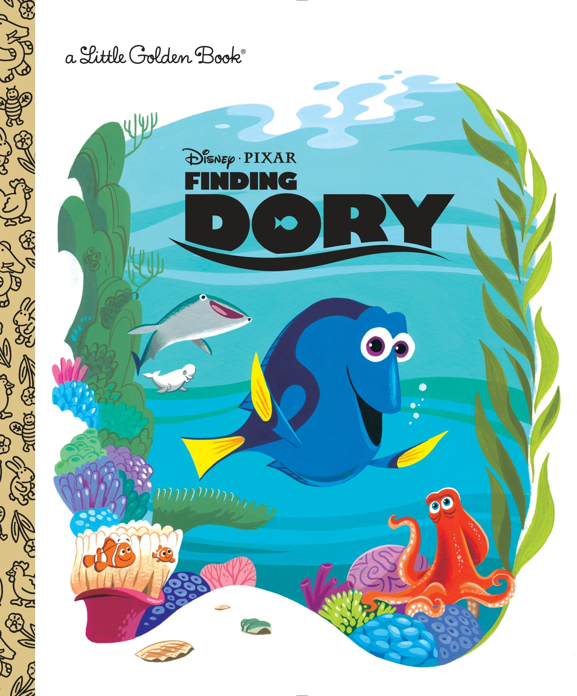 amazon finding dory little golden book disney pixar finding dory