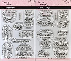 Stamp Simply Clear Stamps Blessings and Beatitudes Christian Religious (2-Pack) 4x6 Inch Sheets - 14 Pieces