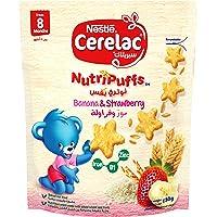 Nestle Cerelac Nutripuffs Original Bag with Strawberry and Banana, 50gm (Pack of 1)