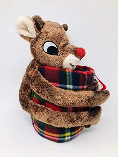 Image Unavailable. Image not available for. Color  Rudolph The Red Nosed  Reindeer with Plaid Fleece Throw Blanket 8313a46b3