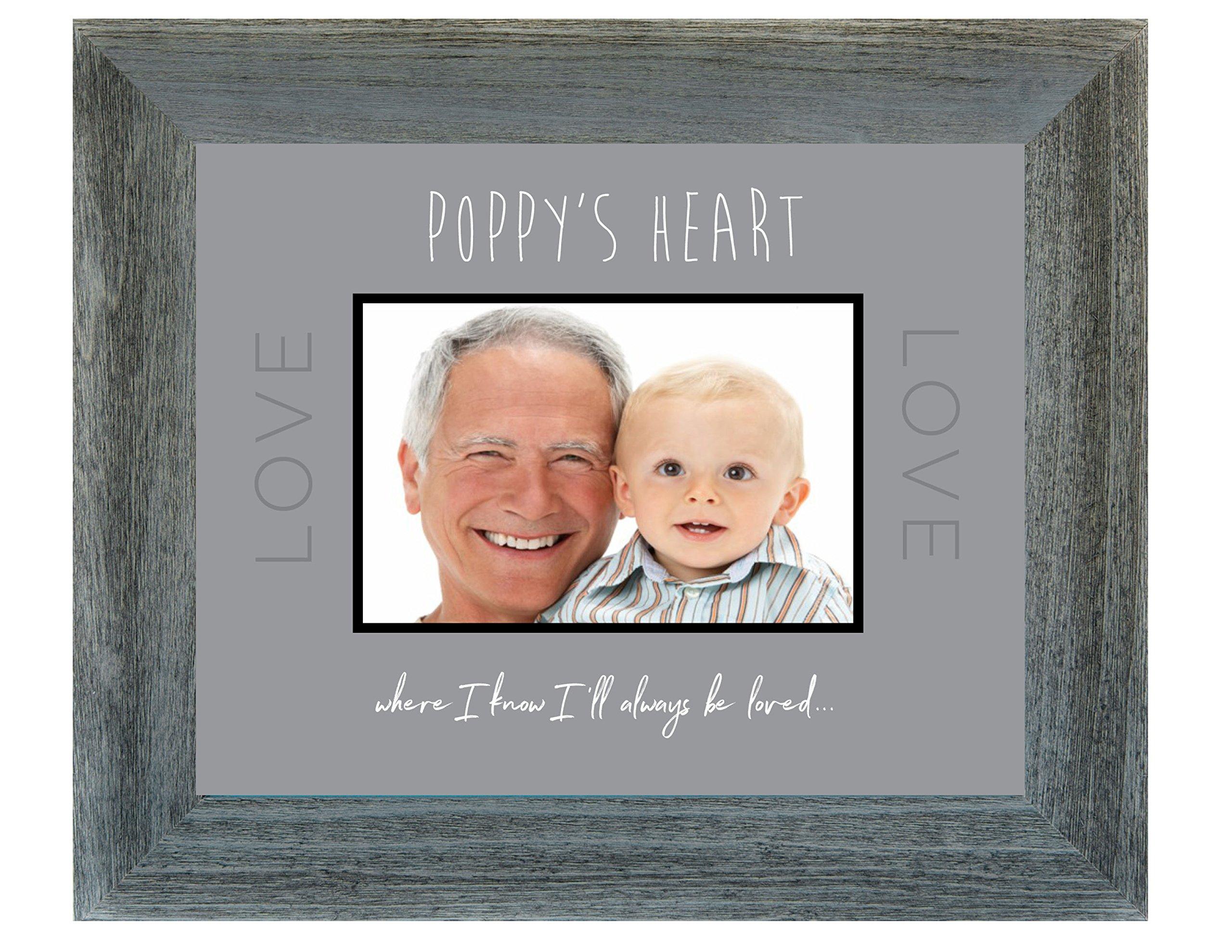 The Grandparent Gift for Grandpa In Poppy's Heart Sentiment Photo Frame