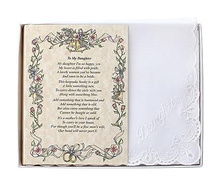 922e256cf0ddcb Amazon.com  Wedding Handkerchief Poetry Hankie (Mother to Daughter ...