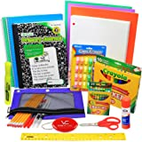 First Through Fifth Grade School Supply Set, All Inclusive Elementary Supplies Bundle, Also a Complete Package of Drawing Materials for Preschool