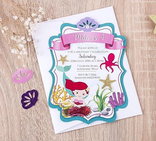 Mermaid Party Invitation Little Mermaid Birthday Party