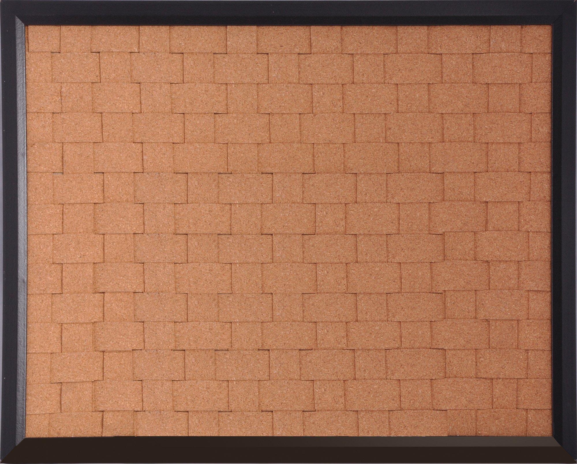 The Board Dudes 16'' x 20'' Black Framed Woven Cork Board (CYL42)