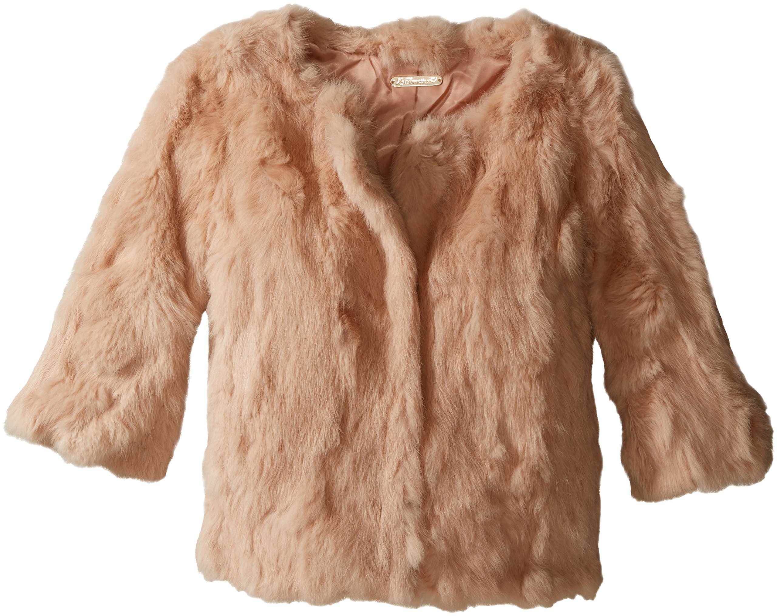 La Fiorentina Women's Cropped Fur Jacket, Camel, Small/Medium