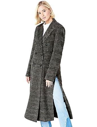 Femme Croisé Manteau Carreaux Et À Find Vêtements Cw1Iq65