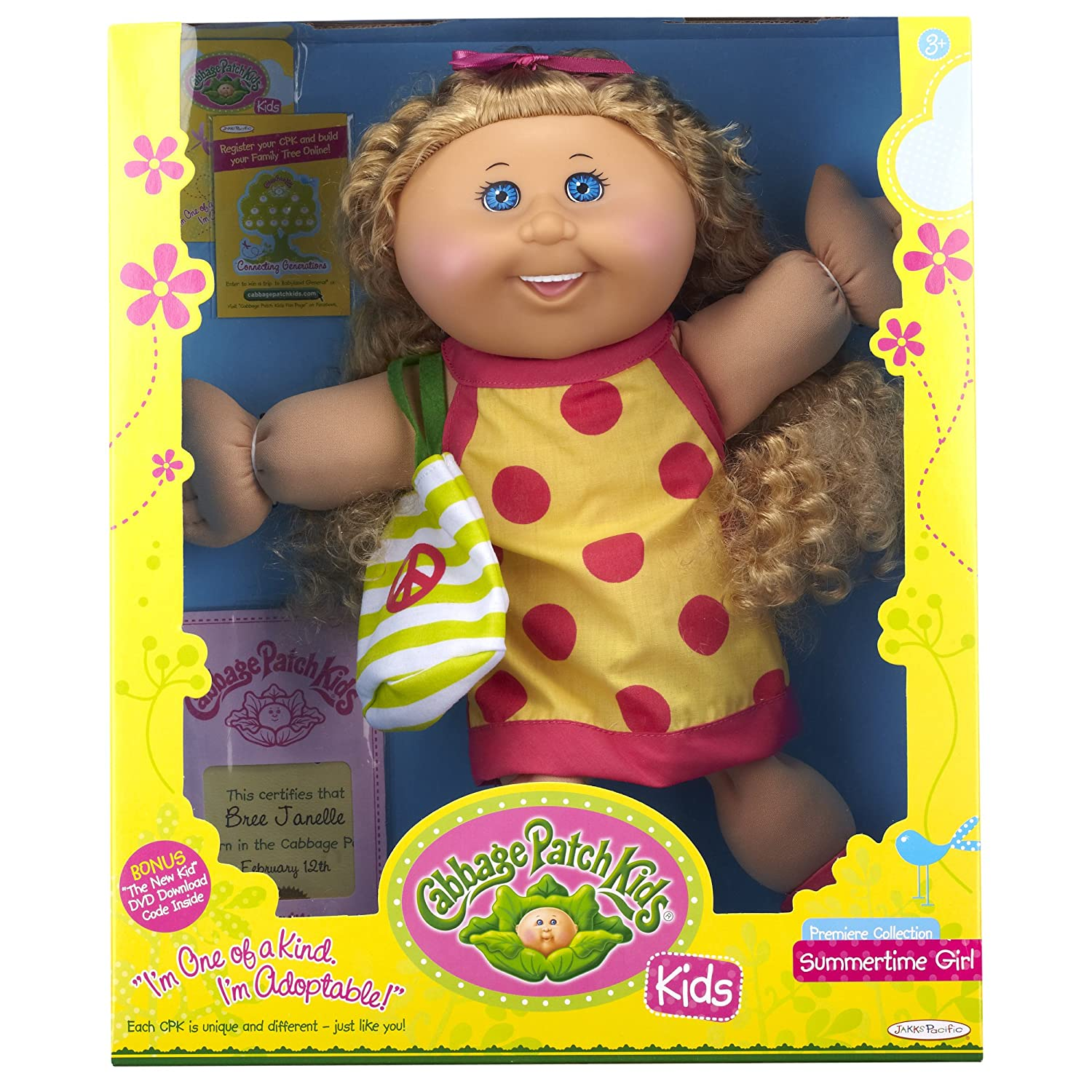 Cabbage Patch Kids Premier Collection Summertime Girl Amazon
