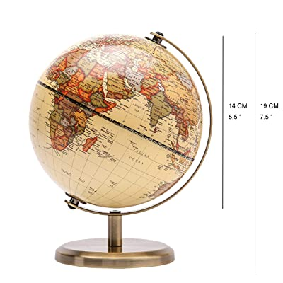 Interactive Globe for Kids Learning 5.5 Educational Rotating World Map Globes Mini Size Children Augmented Reality Learning Toy for Classroom Geography Teaching Cafe Home/&Office Decoration