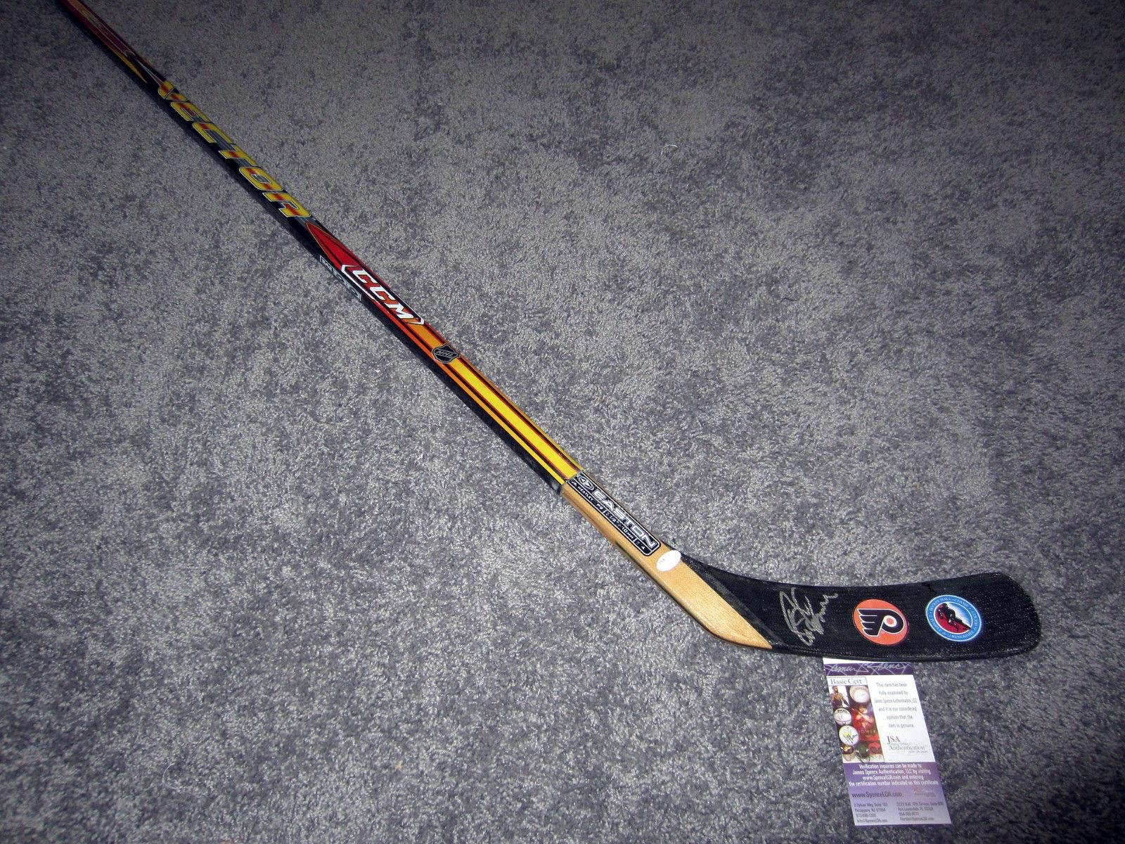 Eric Lindros Signed Stick Hall of Fame w COA JSA Certified Autographed NHL Sticks