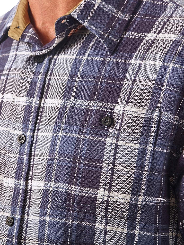 Wrangler Authentics Camisa de Franela de Manga Larga para Hombre: Amazon.es: Ropa y accesorios