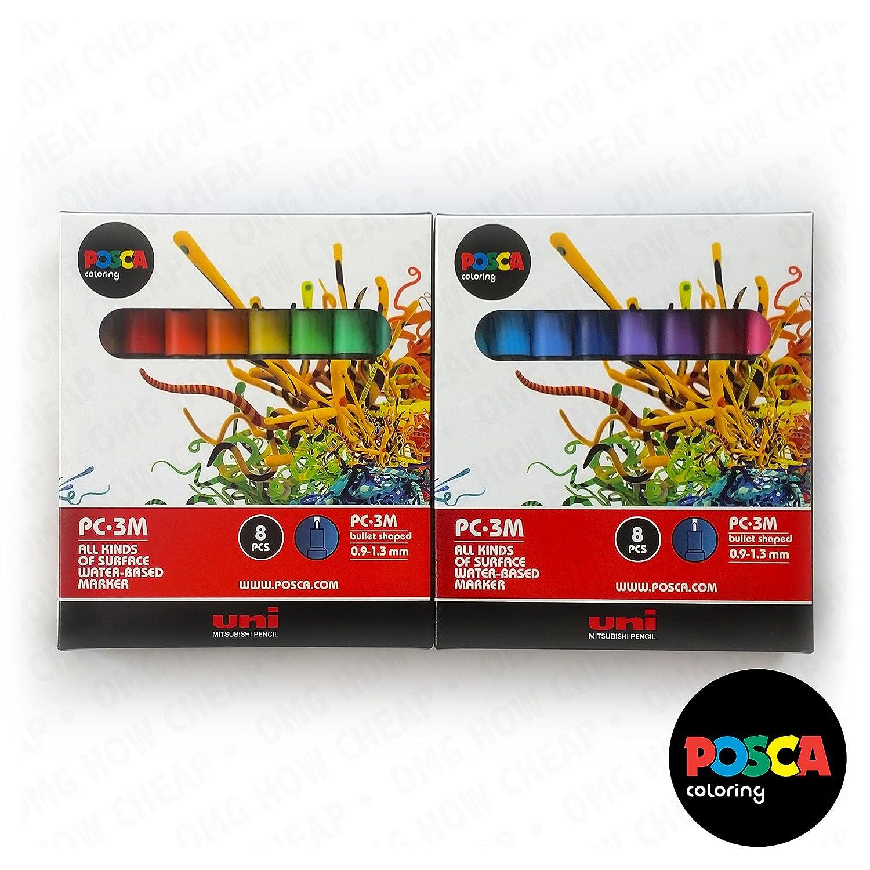 POSCA Colouring - PC-3M Full Spectrum Set of 16 - In 2: Amazon.co.uk ...
