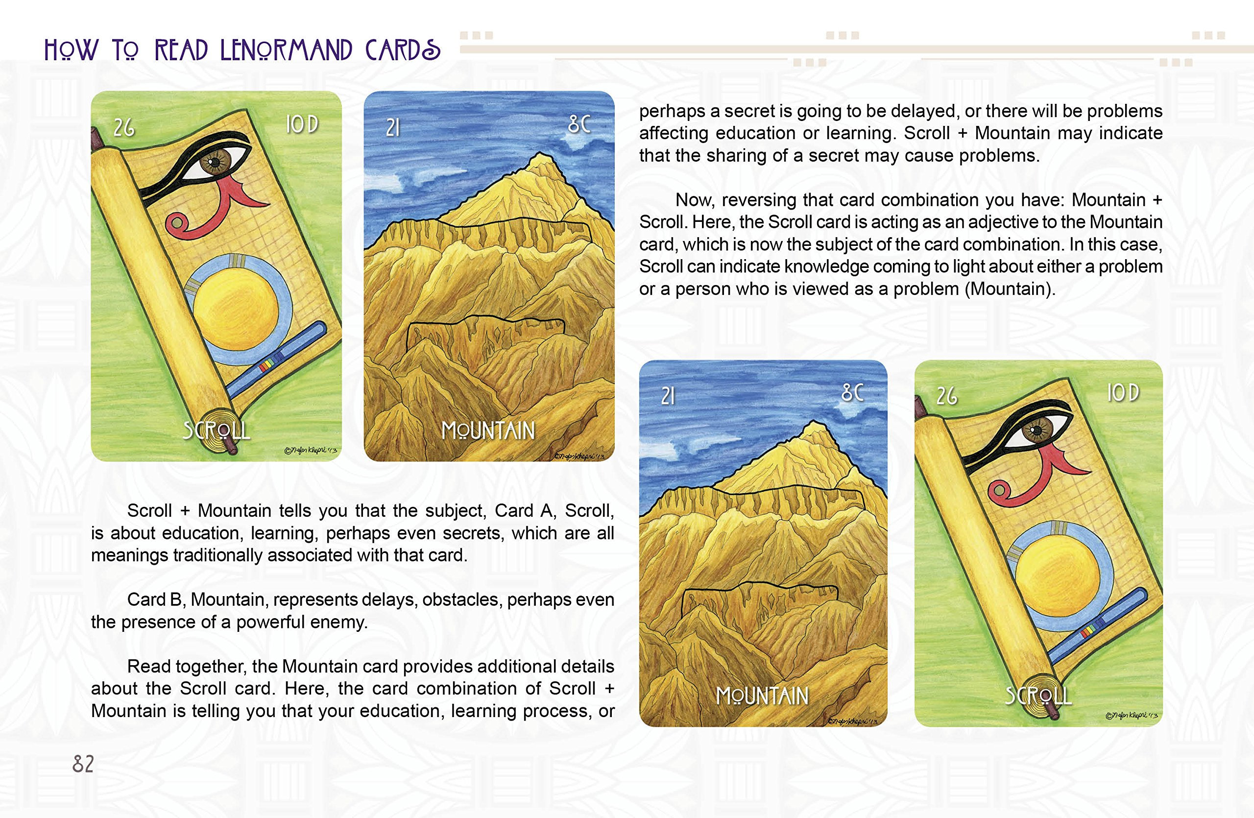 Egyptian Lenormand Amazon Nefer Khepri Fremdsprachige Bücher