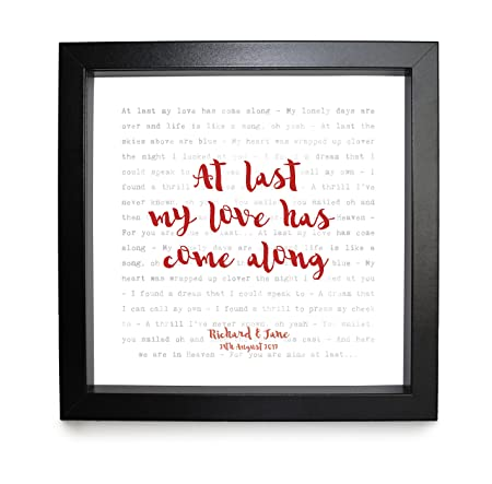 Last Song Wedding.Etta James At Last Song Lyrics Print Framed