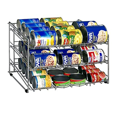Organize It All Chrome Canned Food Storage Rack