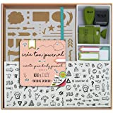 Toga KT74 Kit Bullet Journal Carnet Kraft 15, 5 x 21, 5 x 1, 5 cm