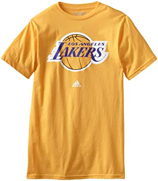 Los Angeles Lakers Adidas NBA Gold Full Primary Logo T-shirt camisa: Amazon.es: Deportes y aire libre