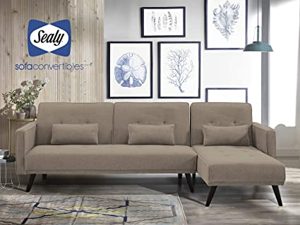 Amazon.com: Jenna Sectional Convertible by Sealy: Kitchen ...