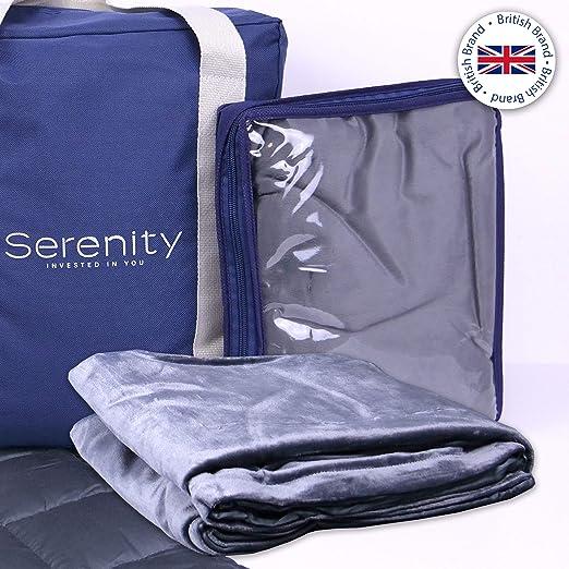 Grey Taglia Unica Serenity SRBLK001 Coperta ponderata