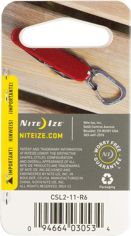 Charcoal Grey Nite Ize Size-4 S-Biner Dual Carabiner Aluminum