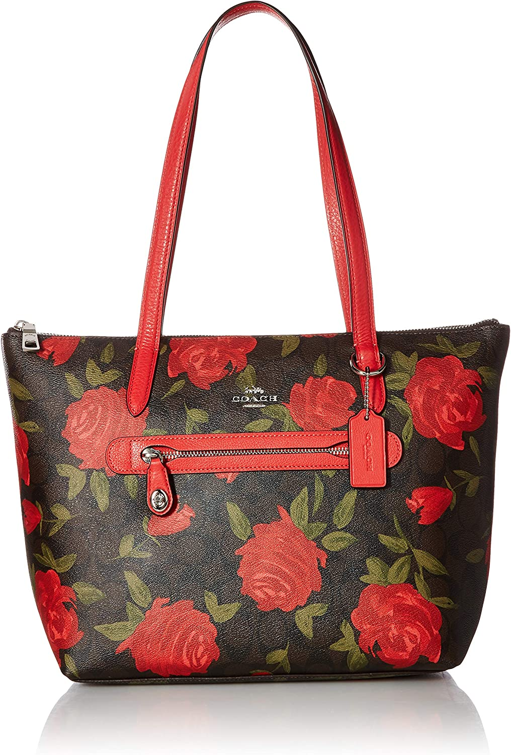 COACH Womens Camo Rose Taylor Tote