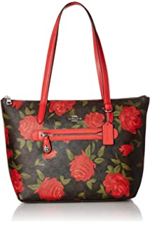 7488a21af403 Amazon.com  COACH AVA CHAIN TOTE WITH HALFTONE FLORAL PRINT BLACK ...