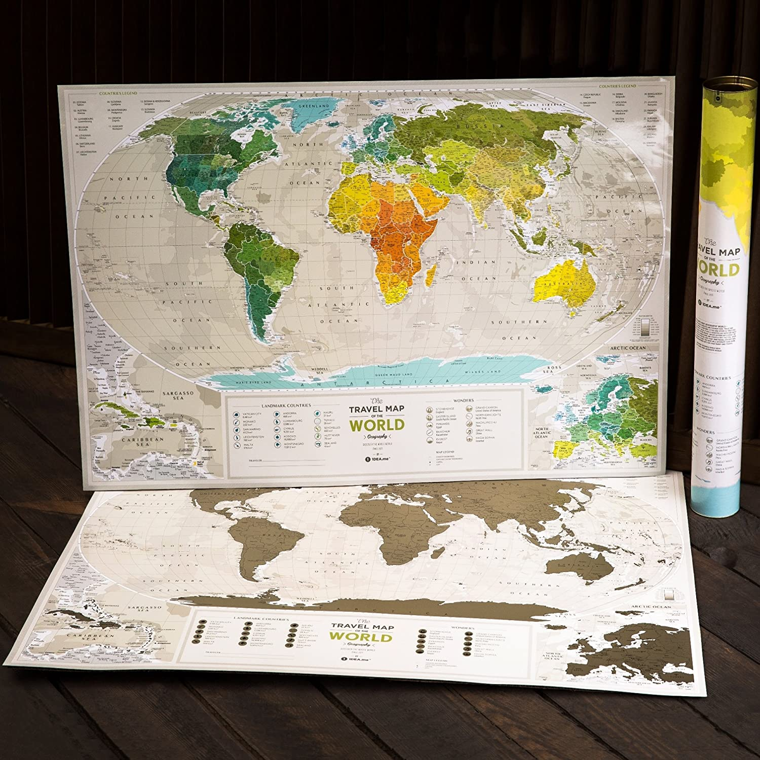 Amazon detailed scratch off world map premium edition 346 amazon detailed scratch off world map premium edition 346 x 236 large places ive been travel map you can scratch off over 10 000 cities gumiabroncs Images