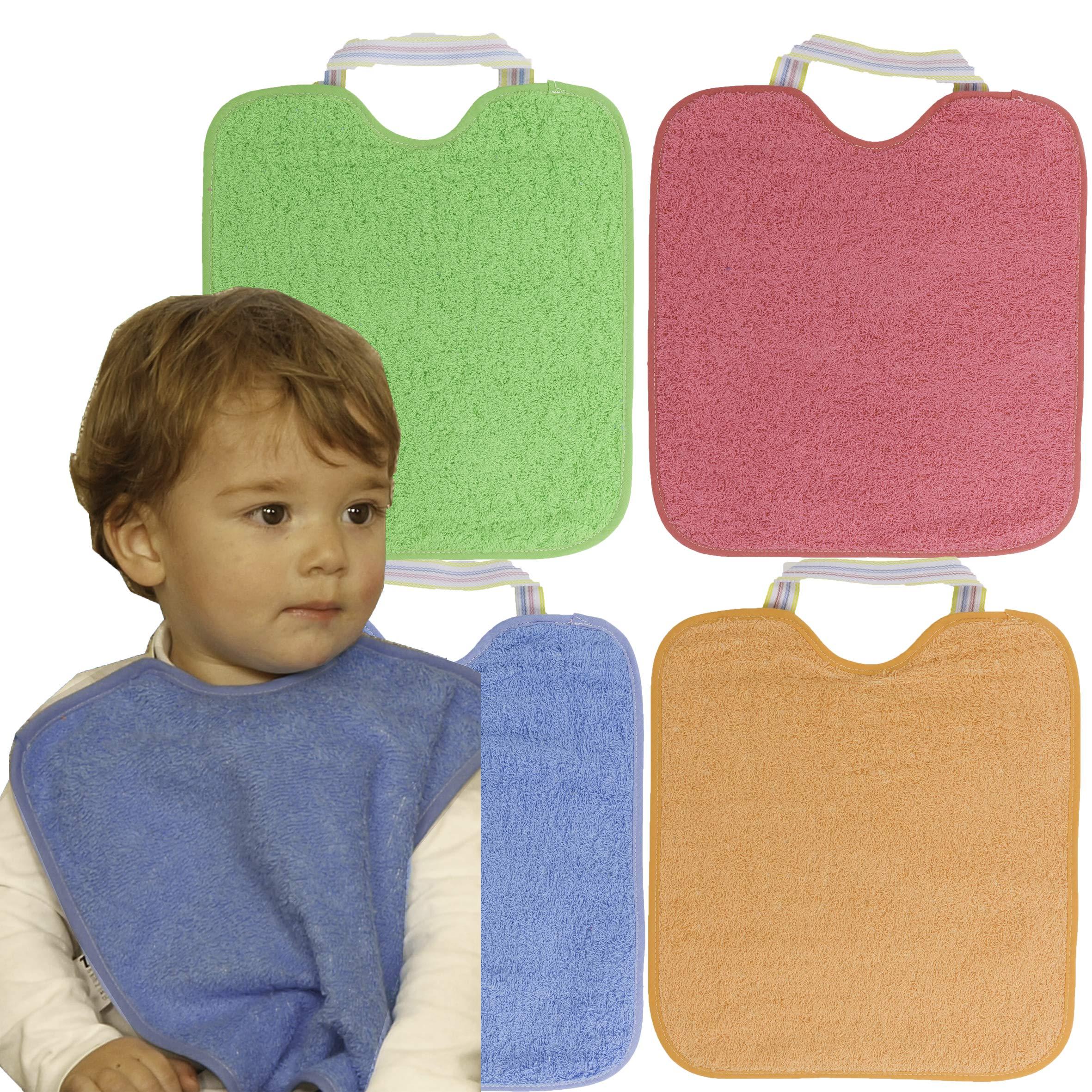 Baberos de Rizo con Goma Impermeables Lote de 4 product image
