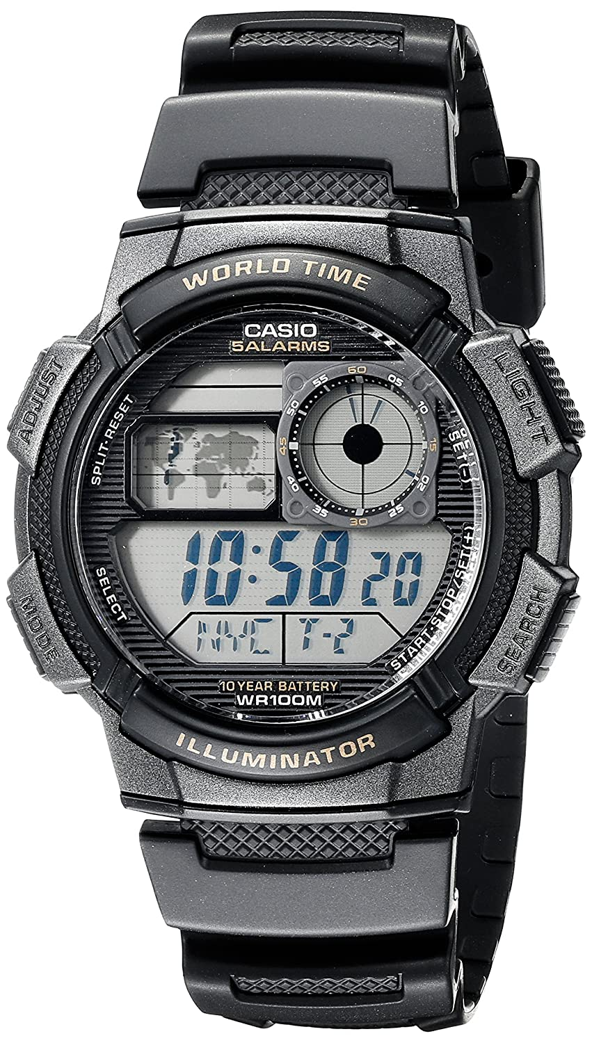 Amazon casio mens ae 1000w 1avcf resin sport watch with black amazon casio mens ae 1000w 1avcf resin sport watch with black band classic watches gumiabroncs Image collections