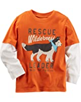 Carter's Baby Boys Long-Sleeve Layered-Look Graphic Tee