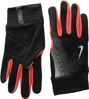 Nike Women's Storm Fit 2.0 Run Gloves (Medium, Black/Bright Citrus)