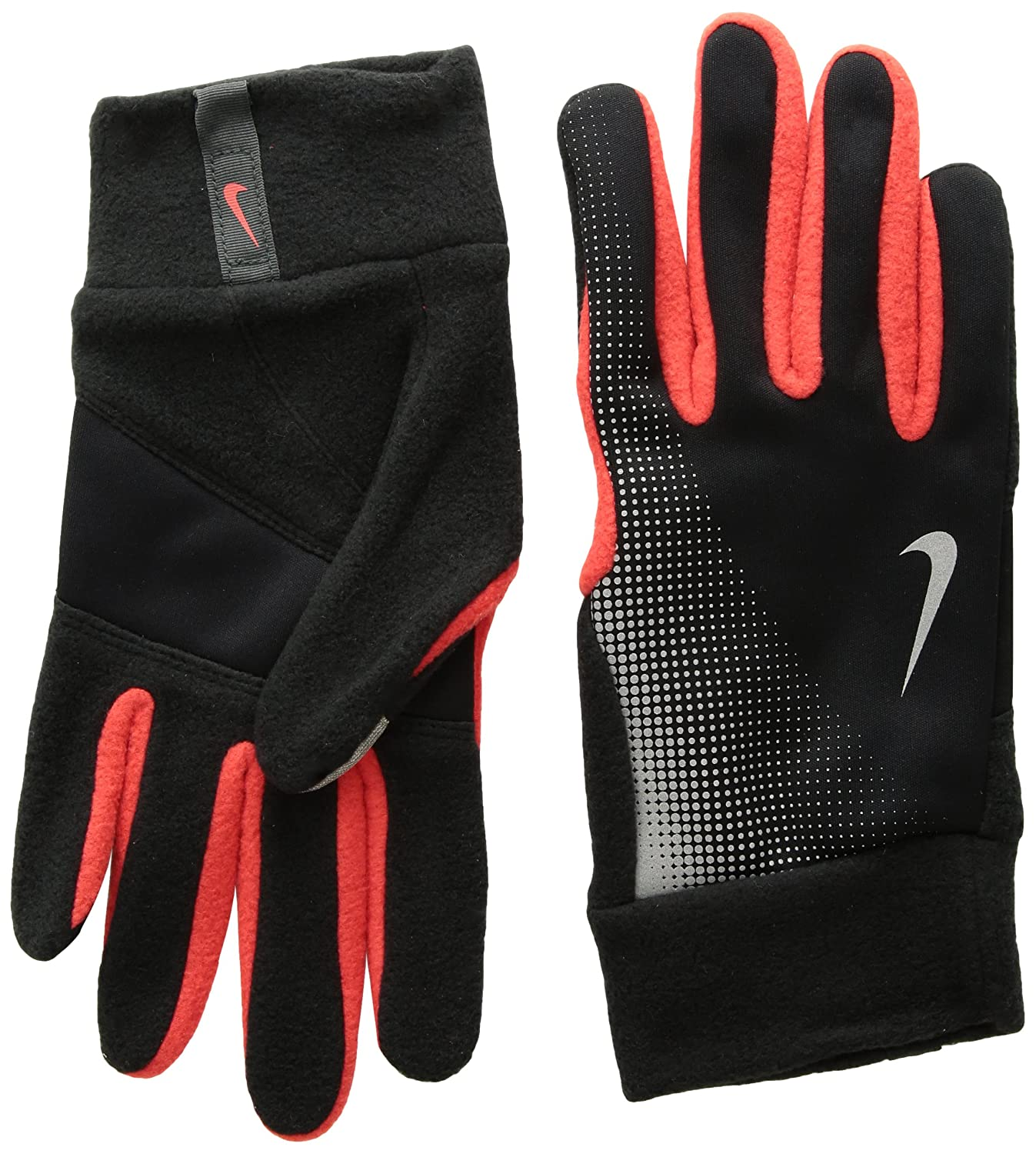 dormitar Economía Descompostura  Nike Tech Thermal Running Gloves - Men's - Black (NRG57055-82691)/Challenge  Red/Reflective Silver, X-Large: Amazon.in: Sports, Fitness & Outdoors