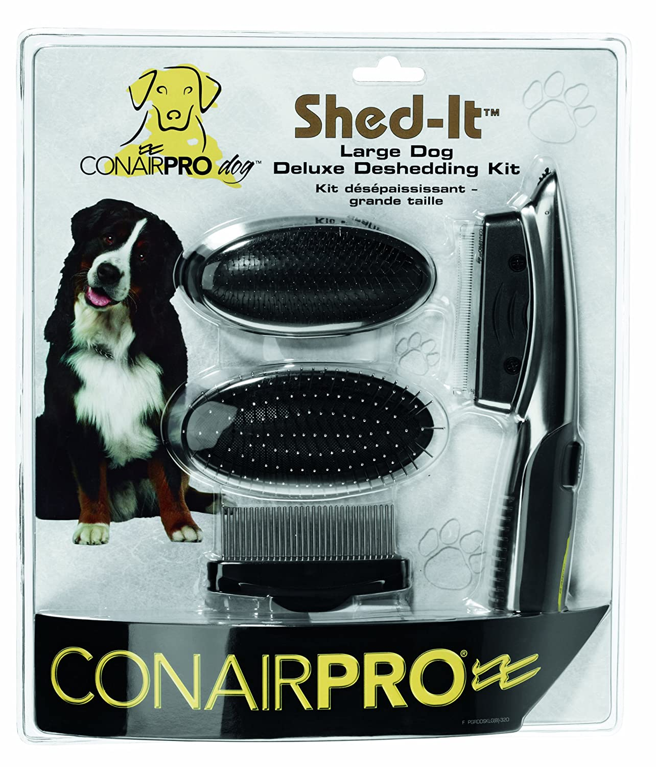 hot sale ConairPRO Shed-It Deluxe Professional Grooming Kit for Small Dogs, 1.75-Inch