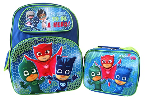 "PJ Masks Hero 3D Pop Up 16"" Backpack and Lunch Box Set"