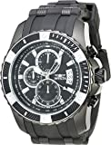 Invicta Men's 'Pro Diver' Quartz Stainless Steel and Polyurethane Casual Watch, Color:Black (Model: 22433)