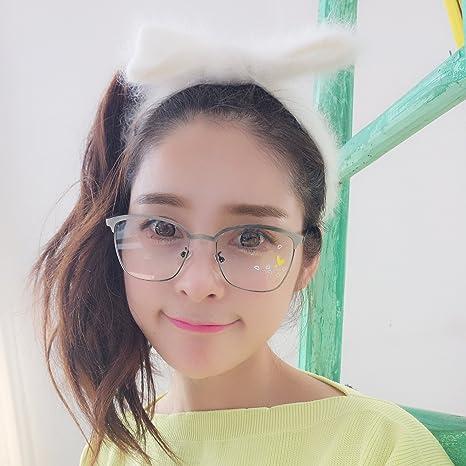 VVIIYJ Metal Square Flat Glasses Occhiali da vista femminili tondi femminili Occhiali da vista ,colore della pistola