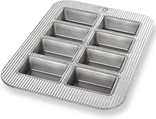 product image for USA Pan Bakeware Aluminized Steel Mini Loaf Pan, 8-Well