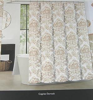 Amazon.com: Tahari Cognac Damask Shower Curtain, Café Latte ...