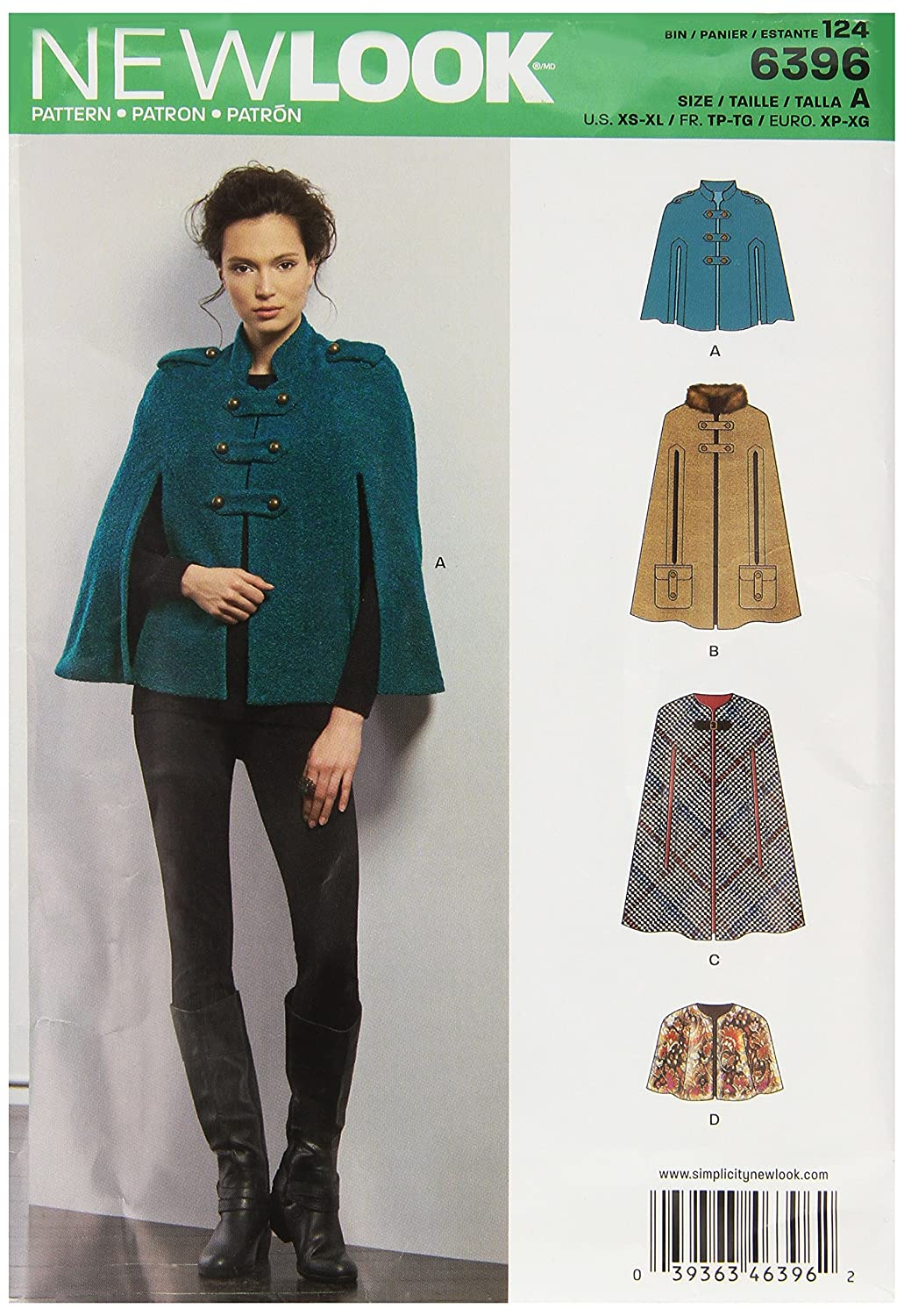 New Look Sewing Pattern un6396 a Otoño Collection - Patrón \'Cabos ...