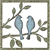 "Regal Art & Gift 11830 Rustic Bird Wall Decor 12"" Metal Wallart, green"