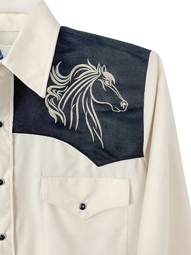 Rangers Camisa Vaquera De Caballero Con Cabeza de Caballos de Lujo at Amazon Mens Clothing store: