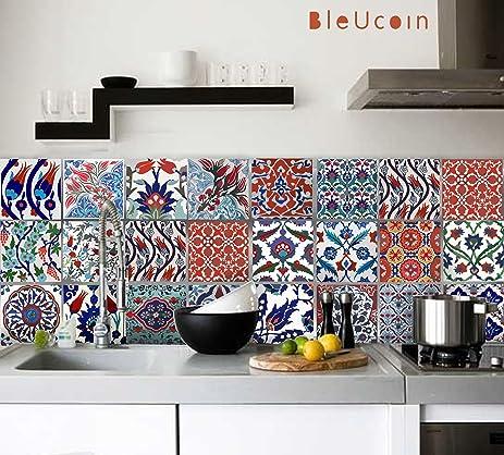Turkish Tile Stickers Kitchen Bathroom Backsplash Decal Pack of 44 ...
